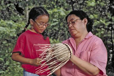 Cherokee, Cherokee Nation, Native American, craft, basket, basketry, Oklahoma, reeds, girl, grandmother, 0_ NEW IMAGES _0
