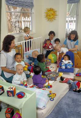 daycare, infants, multi-ethnic, caregivers, Oakland, California, 0_ NEW IMAGES _0