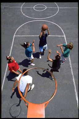USA, exercise, sport, basketball, children, ball, hoop, school, fun
