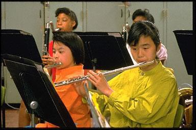 school band, middle school band, musicians, musical instruments, CA, California, friendship, fun, school, students, teach, teacher, USA, work, flute, practice, play, performer, performers, performance
