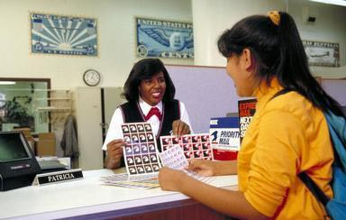 stamps, African American, Oakland, California, US Postal Service, Postal Service, Federal Government, post office, female