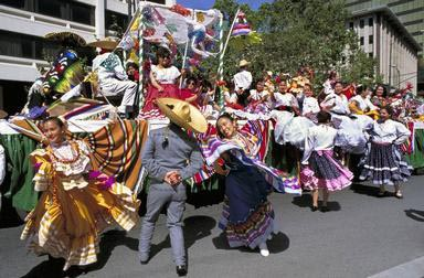 Mexican American, Hispanic, Cinco de Mayo, dance, celebration, San Jose, California, traditional dance