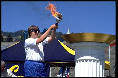 California, disabilities, Olympic flame, Olympic Torch, Special Olympics, UC,Berkeley